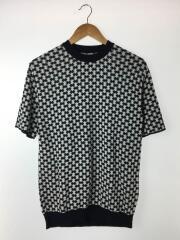 セーター(薄手)/2/コットン/BLK/総柄/ブラック
