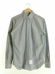 長袖シャツ/2/コットン/GRY/ボタンダウンシャツ/トリコロール/灰色