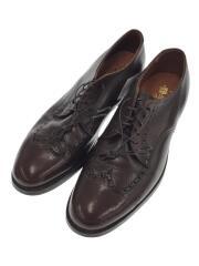 ドレスシューズ/US9/BRW/レザー/革靴/外羽根/636/保存袋有/