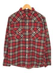 長袖シャツ/ネルシャツ/RED/チェック/赤/
