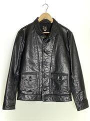 1930s Menlo Cossack Leather Jacket/レザージャケット/M/BLK/ライダース