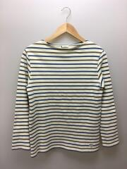 オーシバル/長袖Tシャツ/3/コットン/アイボリー×ブルー×カーキ/ボーダー