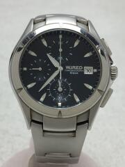 クォーツ腕時計/アナログ/ステンレス/BLK/SLV/7T92-0BX0