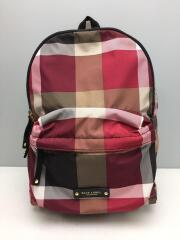 リュック/ナイロン/RED/チェック/55115-503-16