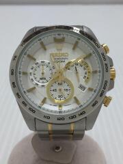 セイコー/SSB309P1/クォーツ腕時計/アナログ/文字盤ホワイト