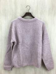 KNIT POWDER PINK DRAMATIC MOHAIR/セーター/S/ナイロン/PNK/A60034