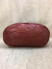 Leather turtle/ウエストバッグ/2212332233461/レザー/RED/無地