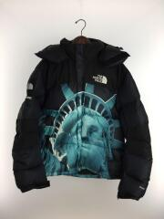 19AW/×THE NORTH FACE/バダウンジャケット/M/ナイロン/BLK/プリント/ND919011