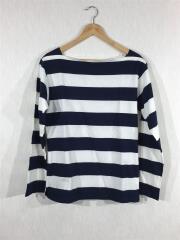 長袖Tシャツ/コットン/NVY/ボーダー/E849J019