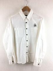 刺繍シャツ/M/コットン/WHT