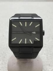 ARMANI EXCHANGE/アルマーニエクスチェンジ/クォーツ腕時計/アナログ/ステンレス/ブラック
