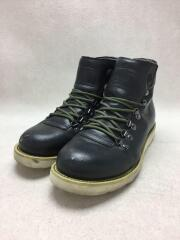 ブーツ/8.5/ブラック/レザー/ダメージあり