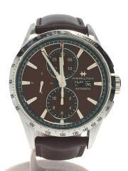 ブロードウェイオートクロノ/HML-H43516871/自動巻腕時計/アナログ/レザー/BRW