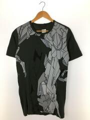 ディーゼルブラックゴールド/Tシャツ/M/コットン/GRN/総柄
