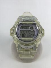 クォーツ腕時計/デジタル/ラバー/クリア