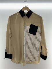 長袖シャツ/1/ポリエステル/109500008/ベージュ/変形ポケット