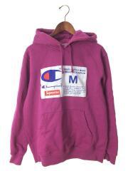 18AW Label Hooded Sweatshirt/パーカー/M/コットン/PUP