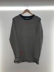 長袖Tシャツ/XS/コットン/ホワイト/ボーダー