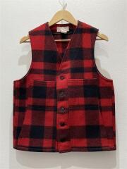 ベスト/38/ウール/RED/チェック/Filson Mackinaw Wool Vest