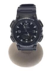 スタンダードソーラー//クォーツ腕時計/アナログ/--/BLK/BLK