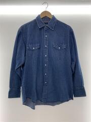 90S/デニムウエスタンシャツ/コットン/サイズ表記無