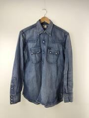 ×WACKO MARIA/50S RIDER SHIRT (TYPE-1)/ライダーシャツ/L/デニム/IDG