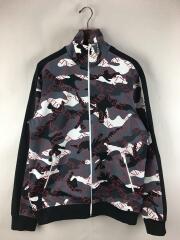 ヴァレンティノ/Vltn Grid Jersey Sweatshirt/M/ジャージ/GRY/カモフラ