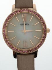ソーラー腕時計/アナログ/--/WHT/PNK/STPR062