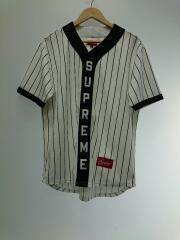 18aw Vertical Logo Baseball Jersey/M/ポリエステル/ホワイト/RN101837