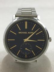 クォーツ腕時計/アナログ/ステンレス/ネイビー/シルバー/MK-3523