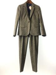 20AW/Flock on Prince of Wales/セットアップ/36/ウール/GRY/ドット