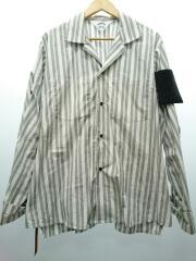 20SS/pajama stripe shirts/長袖シャツ/3/コットン/グレー/ストライプ/20S18