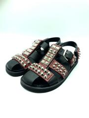 Studded Calfskin Sandals/スタッズレザーサンダル/UK6/BLK/2X3008