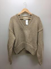 Vneck Heavy Knit/セーター(厚手)/FREE/コットン/ベージュ/11920526