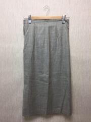 19S/マシンウォッシュブルスカート/40/ウール/GRY