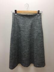 ロングスカート/38/ウール/GRY/B0183AFS037