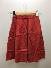 スカート/XL/リネン/RED/無地/AL911503