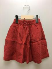 スカート/XS/リネン/RED/無地/AL911503