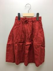 スカート/M/リネン/RED/無地/AL911503