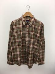 チェックシャツ/長袖シャツ/M/コットン/マルチカラー/チェック/STY53837FA18