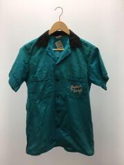 ボーリングシャツ/S/コットン/BLU/80s-90s/Made in USA