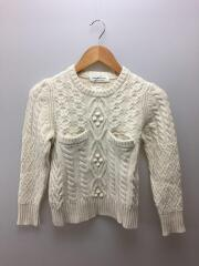aran kids sweater/140/ウール/IVO/1620210402