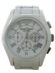 クォーツ腕時計/アナログ/セラミック/WHT/WHT/AR-1403