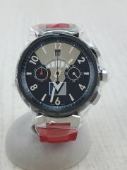 自動巻腕時計/アナログ/ラバー/BLK/RED/Q102G/RY6546/クロノグラフ