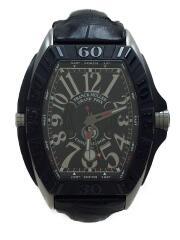 フランクミュラー/コンキスタドール/自動巻腕時計/アナログ/チタン/メンズ/ウォッチ/保証アリ/CONQUISTADOR