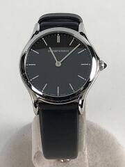 クォーツ腕時計/アナログ/レザー/BLK/BLK/ARS-7012