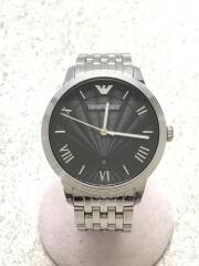 クォーツ腕時計/アナログ/ステンレス/BLK/SL/ar1614
