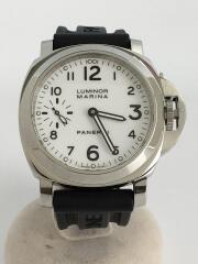 PANERAI/パネライ/自動巻腕時計/アナログ/ラバー/ホワイト/ブラック/OP6727