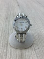 ATLAS/クォーツ腕時計/アナログ/ステンレス/WHT