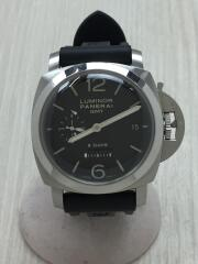 ルミノール 1950 8デイズGMT/N番PAM00233箱.革ベルト.説明書付属/OP666